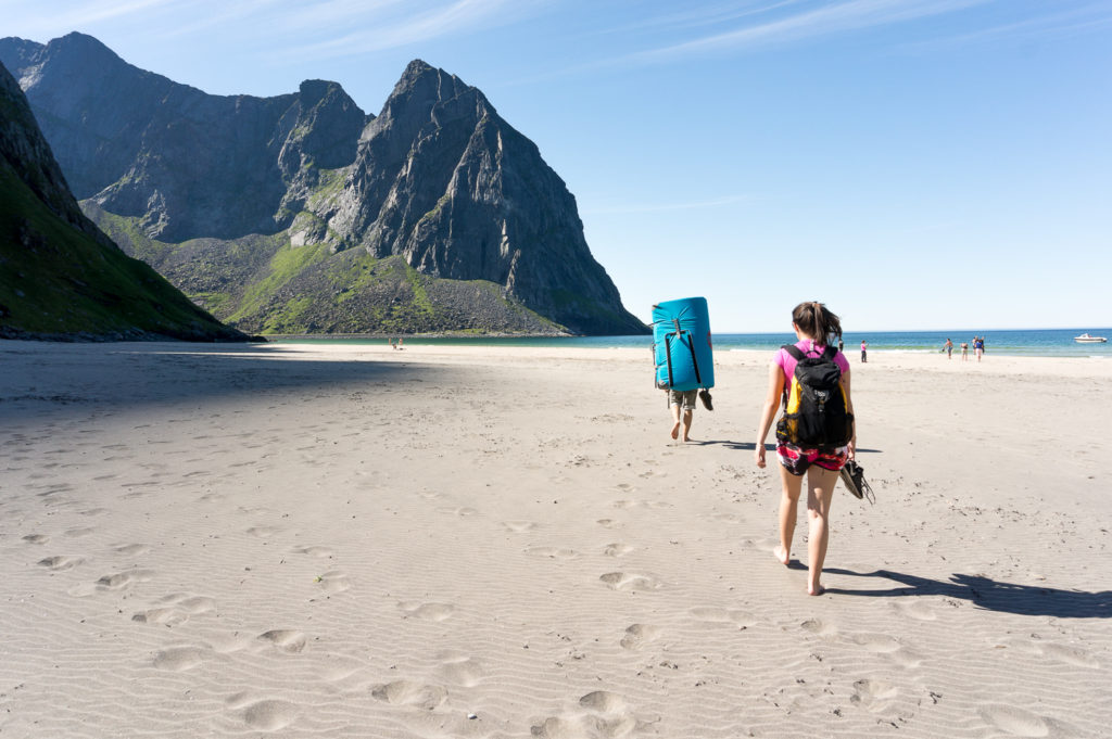 kvalvika beach lofoten norway
