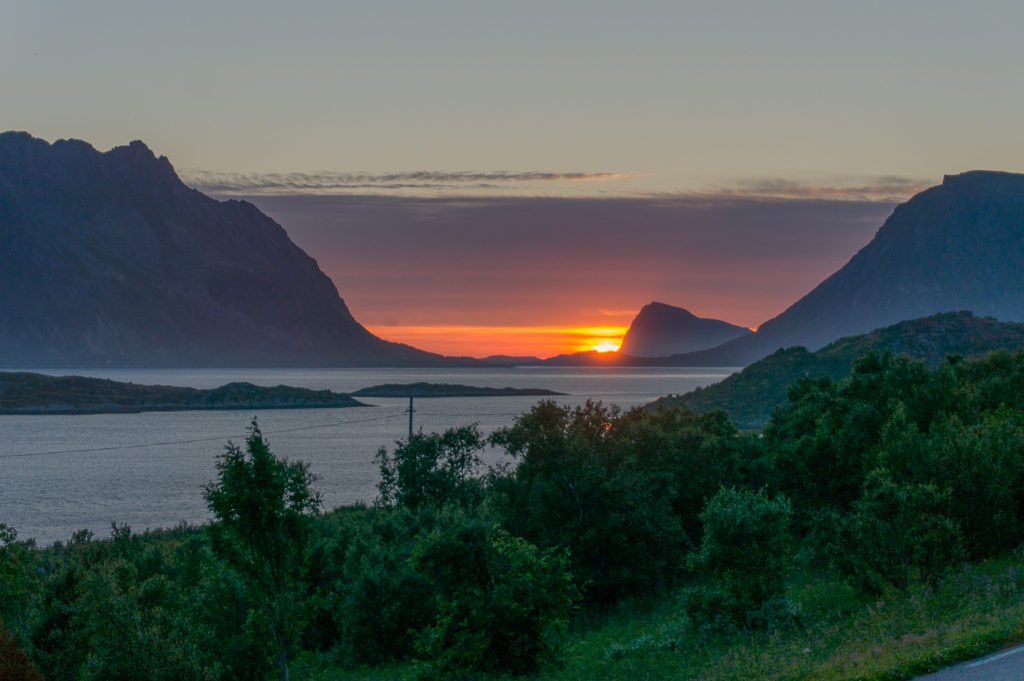 lofoten norway sunset